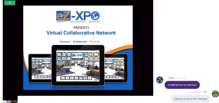 eZ-Webinar Screenshot